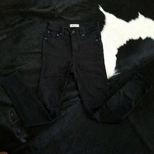 "Black 10"" High Rise Skinny Jeans"